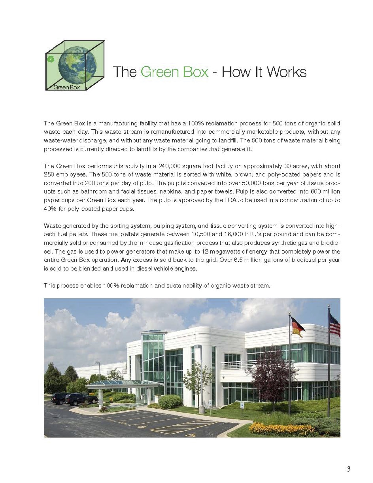 3 Green Box Color Brochure
