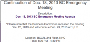 Dec. 23 continuation of Dec. 15 & 18 BC Emg Mtg